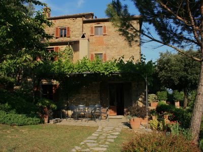 Photo for Peaceful old stone farmhouse: own salt pool & lovely garden  in tranquil hills.