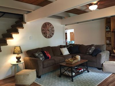 Photo for Beautifully renovated 5-bedroom cottage across from Bass Lake