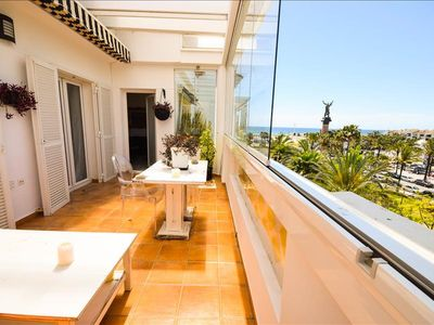Photo for Penthouse in 1 line Beach complex directly in Puerto Banus