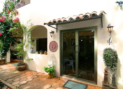 Quaint entrance to the Garden Suite at the Hacienda Bed and Breakfast