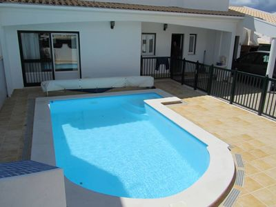 Photo for HOUSE WITH PRIVATE SWIMMING POOL AND BARBECUE 900M FROM THE CENTER OF ALBUFEIRA 1. 3 KM BEACH
