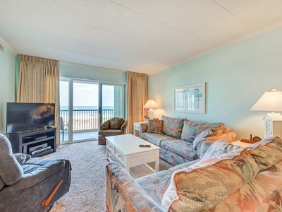 Ocean Front! Mid town 2 BR Condo with Outdoor Pool in Sandpiper Dunes