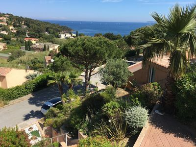 Photo for Beautiful Villa 300 m from the Aiguebelle beach Le Lavandou Panoramic view me