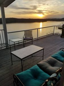 Photo for Lake Front Cliff Side Home, Community pool, Amazing Sunset and Large Decks