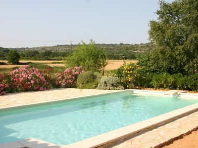 Photo for Mas Provencal renovated with air-conditioned rooms and superb view without vis a vis