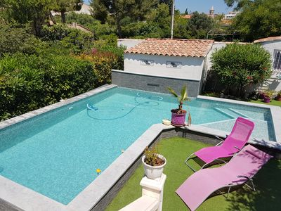 Photo for PROMO JULY AUGUST GD T2 BEAUTIFUL SWIMMING POOL - IN SEASIDE - 55M2 CALM