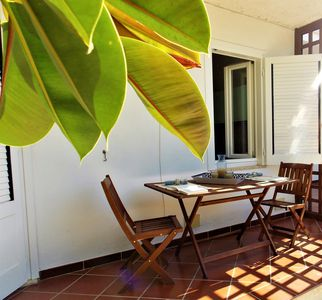 Photo for Casa Valeria, spacious apartment with courtyard a few steps from the beaches