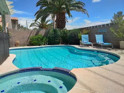 Photo for Monthly Rental w/ pool, 5 min to the strip and airport, 15 min Convention Center