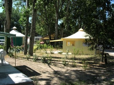 Photo for Camping Pont Mah�� *** - Tent Funflower 3 Rooms 4 Persons