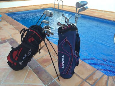 2 Sets of Golf Clubs plus a table tennis Table at the villa for your use.