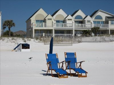 Step out your back door and relax on the beach!