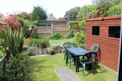 Enclosed West Facing Rear Garden with Large Shed for Larger Beach Toys