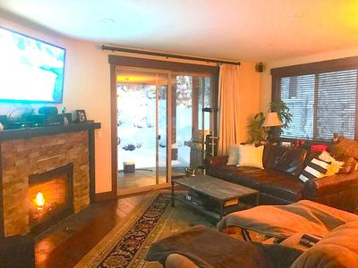 Photo for Cozy 3bed 2 bath condo with hot tub and fireplace. The Boulders Truckee .