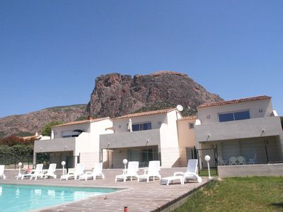 Photo for villa with pool in afa, overlooking the golf of Ajaccio