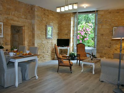 Photo for Le Sénéchal 4 people,remarkable views of the hotel gardens Gerard-inside Sarlat