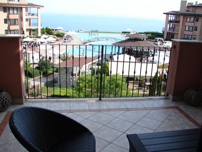 Photo for Superb apartment with stunning view over the Black Sea coast