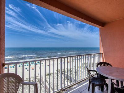 Photo for Gulf front, penthouse-level condo w/ shared pool & beach access!