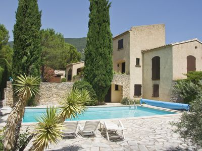 Photo for holiday rental house for 6-8p Nyons (Drôme-Provence), private heated pool, WIFI