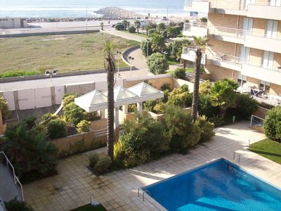 Photo for Beach front apartment, in closed private condo (with 2 swimming pools)