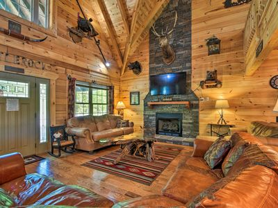 Photo for NEW! Trenton Cabin w/Hot Tub- 14 Mi to Lookout Mtn