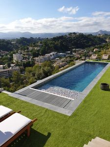 Photo for Studio T2 air-conditioned view on swimming pool and mountain