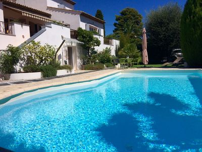Photo for CANNES SUPERB T2 Ground Garden Villa with PRIVATE POOL FOR YOU!