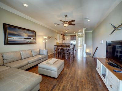 Open kitchen, dining and living is great for entertaining friends and family