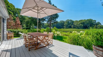 Photo for Family-Friendly, Waterfront Southampton Retreat on Fish Cove w/ Private Dock, Stylish Living Spaces