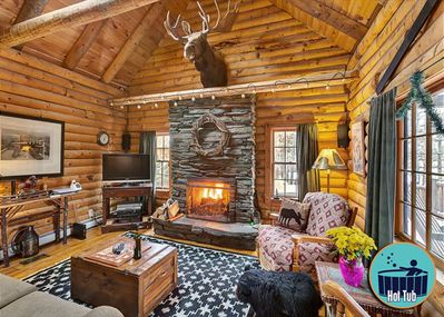 Throw some logs on the fire, turn on the TV, and relax like you've never known
