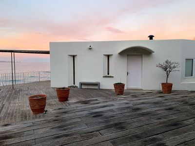 Photo for Beach of Pals Beachfront Villa Feet in the Water Panoramic View of the Bay