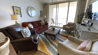 Photo for Happiness is you falling in love with this updated beachfront condo! Doral 1503