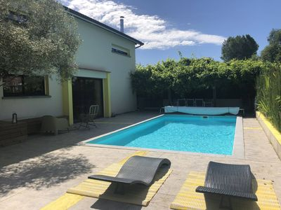 Photo for Renovated barn with pool