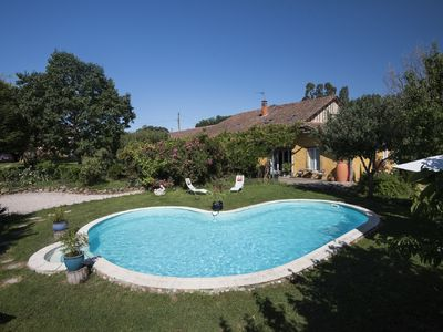 Photo for Converted gascony farmhouse with pool and original details and lots of mosaic