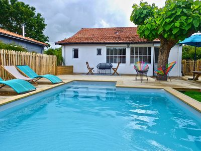 Photo for Beautiful house with pool in Andernos, beach 300m