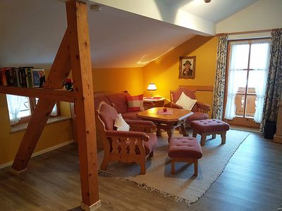 Photo for Rustic Holiday Apartment with Balcony, Mountain View & Wi-Fi; Parking Available, Pets Allowed