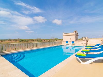 Photo for CAN PASSARELL - Villa with private pool in CAMPOS.