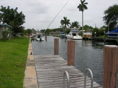 A View From Our Dock. The main Intercoastal Waterway is just beyond the boats.