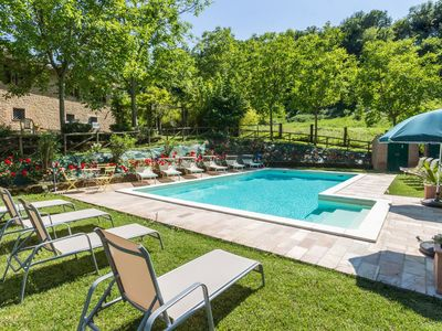 Photo for Villa Dipinti with pool in the countryside of Serra San Quirico, 30 minutes from the Adriatic Coast