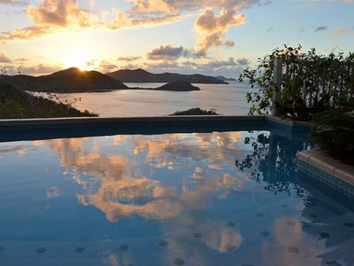 Photo for House of Open Arms Villa, Above Hurricane Hole, White Water Views,Romantic! Pool