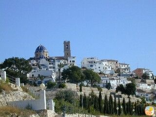 View of Altea old town