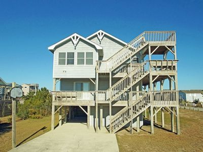 Photo for NEAR THE BEACH- 4 BRs (2 Masters), Hot Tub, Crows Nest, 425 Ft to Beach!