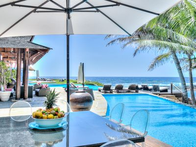 Photo for Mesmerizing Beachfront Estate, Chef, Butler, Maids, Infinity Pools, Jacuzzi, AC, Free Wifi