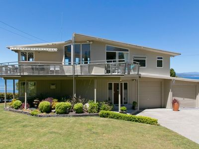 Photo for Luxury home with Cliff Top Views over Lake Taupo from Acacia Bay