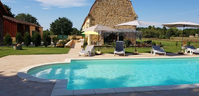 Photo for Luxury Restored Stone Farmhouse 'St. Joseph' with private pool on 2 acre park