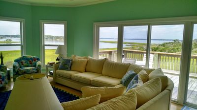 Photo for Luxurious 5 Bedrm Sound Front Home; Dream Vacation: Home Away from Home!  slps12