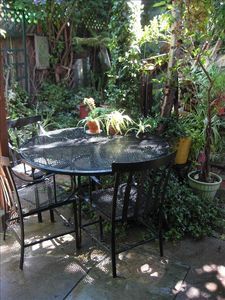 Private garden, outside sitting area.  SF Mission, near food, shopping, transpo