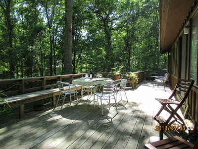Photo for Family friendly home near beach with wonderful deck! Moments from beach.