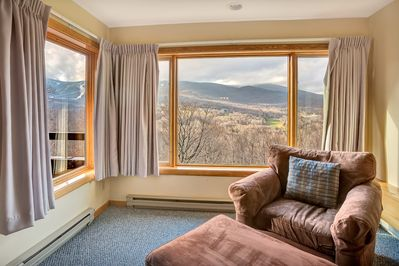 Living room with a perfect view - <center>Stunning Killington mountain views right from the living room <center>