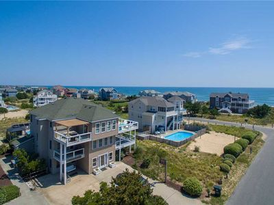Photo for SeaClusion: Oceanside, private pool, hot tub, rec room, elevator, 180 feet to the beach!