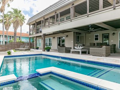 Photo for 4BR Waterfront Key Allegro Home - Two Decks, Private Pool & Boat Dock